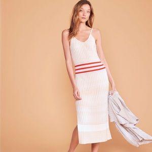 Lou & Grey Silkrib Striped Cami Midi Dress, Size M
